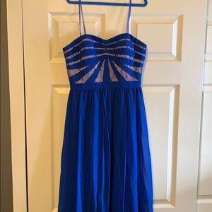 Aidan SZ 0 Formal Strapless Dress Royal Blue